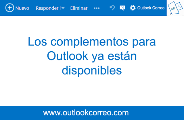Los complementos para Outlook ya están disponibles