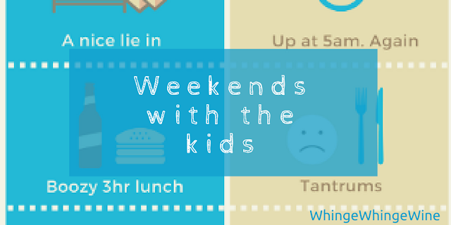Weekends with the kids: Then vs now