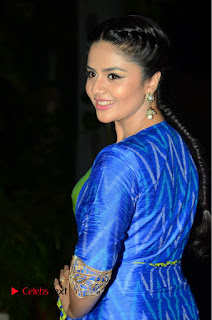 Telugu Cinema Actress Anchor Srimukhi Pictures at Rail Movie Audio Launch  0012.JPG