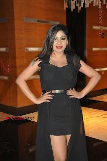 Telugu Actress Model Madhulagna Das Latest Spicy Stills in Black Short Dress  0028.JPG