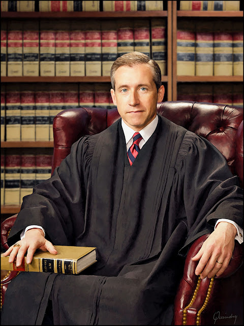 judicial portrait, judges portrait, painting