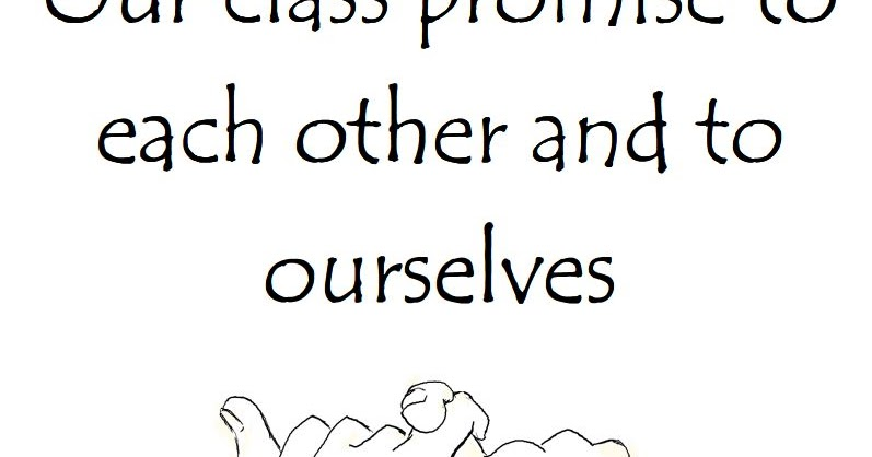 Fun Fourth Grade Collaboration Classroom: Our Class Promise!