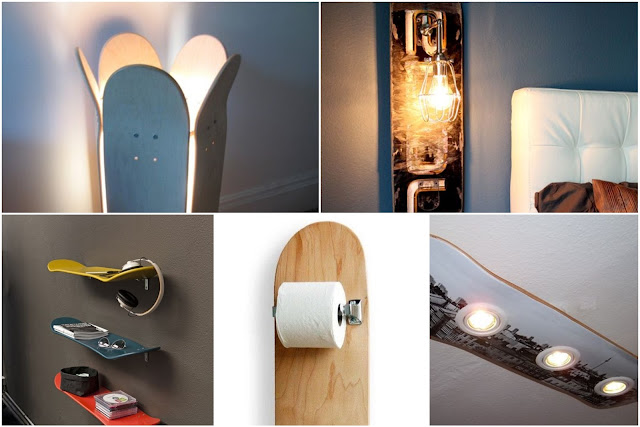 DIY Using Skateboards For Home Decor