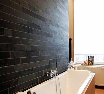 Slate Wall Tiles Cut Into Strip Cladding