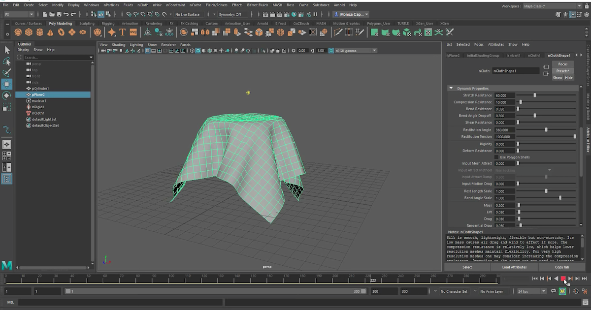 Dynamics in Maya 2019: nCloth for beginners | CG TUTORIAL