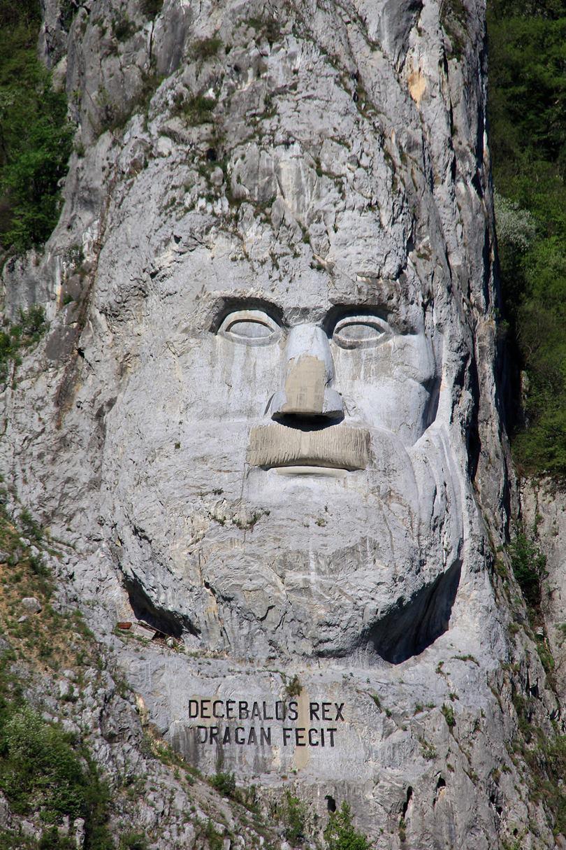 decebal, rock sculpture of decebalus, decebalus, decebalus rex,  decebal statue, decebal statuie, decebal munte, decebals, rock sculpture, rock face statue, rock statue face, romanian giants, romania rock, large rock sculpture,