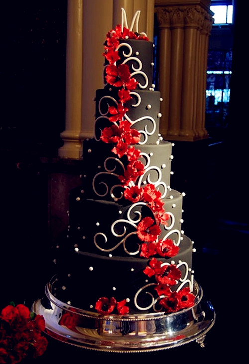 wedding cake black and red wedding theme august 2013 22013