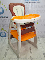 Baby High Chair BabyDoes CH508 - 3 Posisi Duduk, Rebah atau Tidur