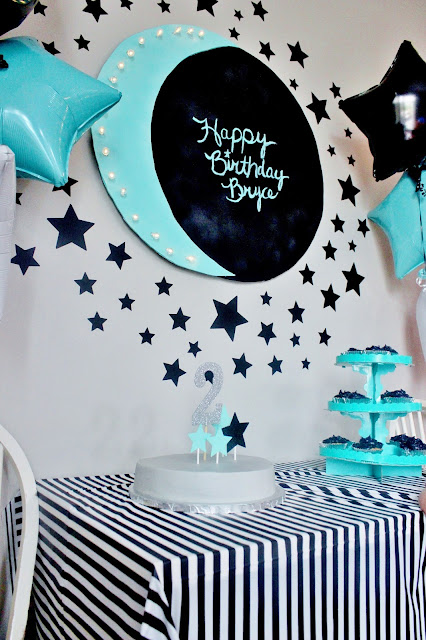 moon and star birthday decorations