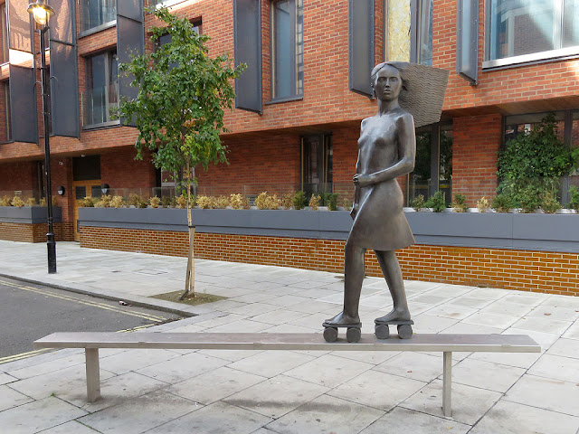 Roller Skater by André Wallace, Moreton Street, Pimlico, London