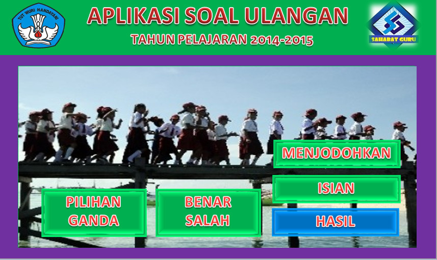 Software Soal Ulangan Ujian SD Aplikasi Excel Free Download
