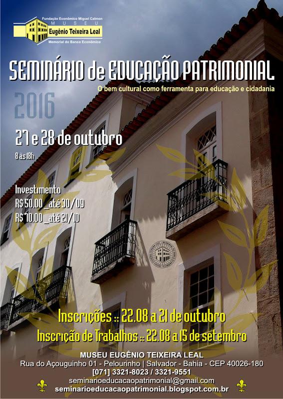 Seminário de Educação Patrimonial no Museu Eugênio Teixeira Leal