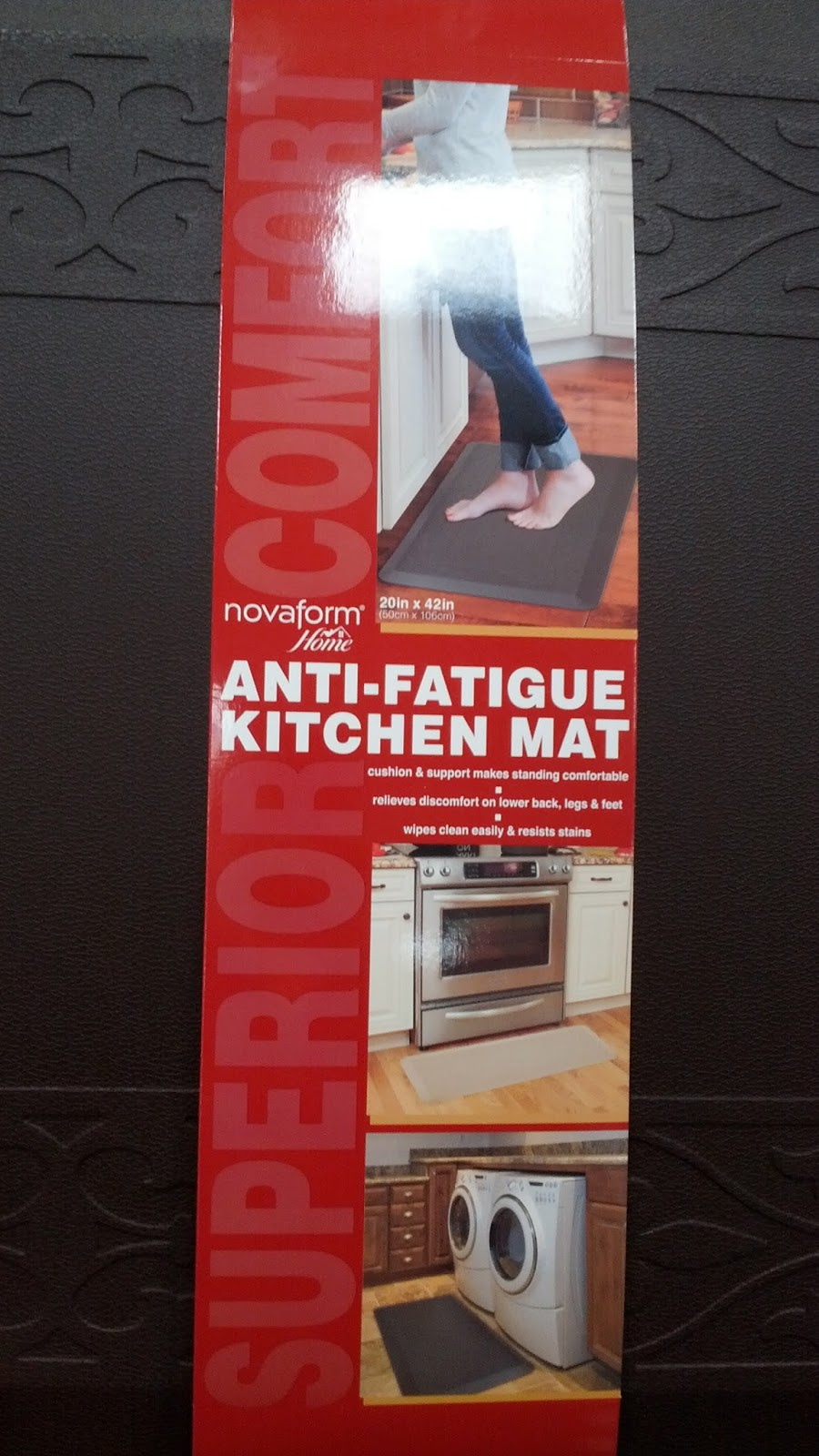 novaform kitchen mat denver hickory cabinets home anti fatigue foam costco weekender