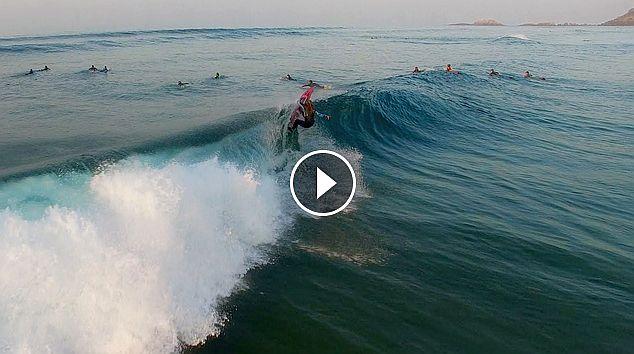 Surfing Zarautz 22 2 2017