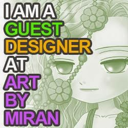 I have been invited to be a guest designer for March for Art by Miran