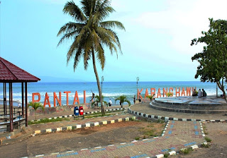 Foto DP bbm wisata alam pantai Karang Hawu Pelabuhan Ratu Sukabumi Jawa barat Indonesia
