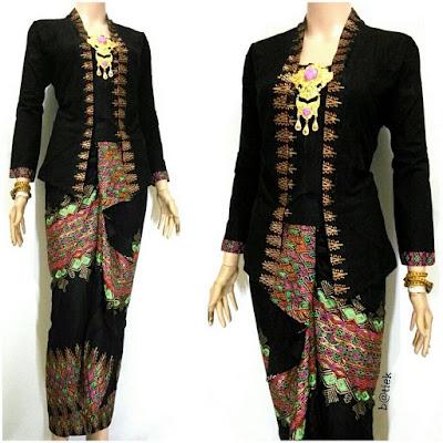 Rok dan Blouse Batik Anisa motif prada hitam