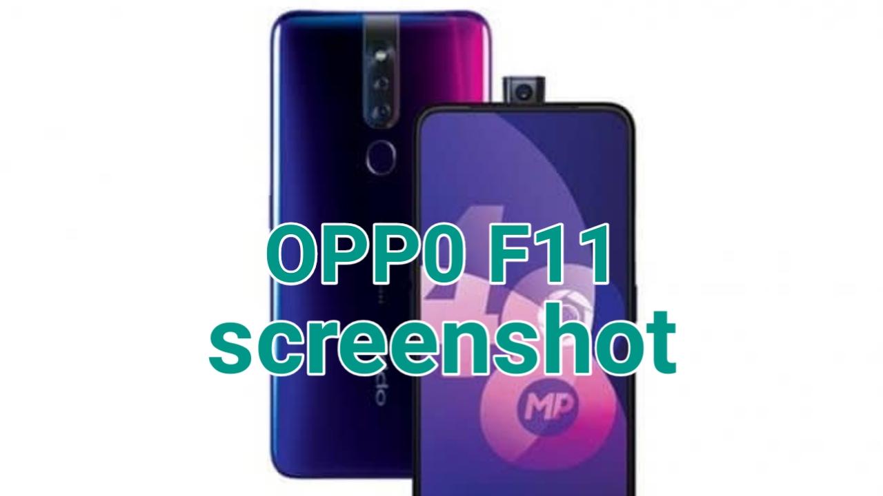 Cara Screenshot Oppo F11 dan F11 Pro