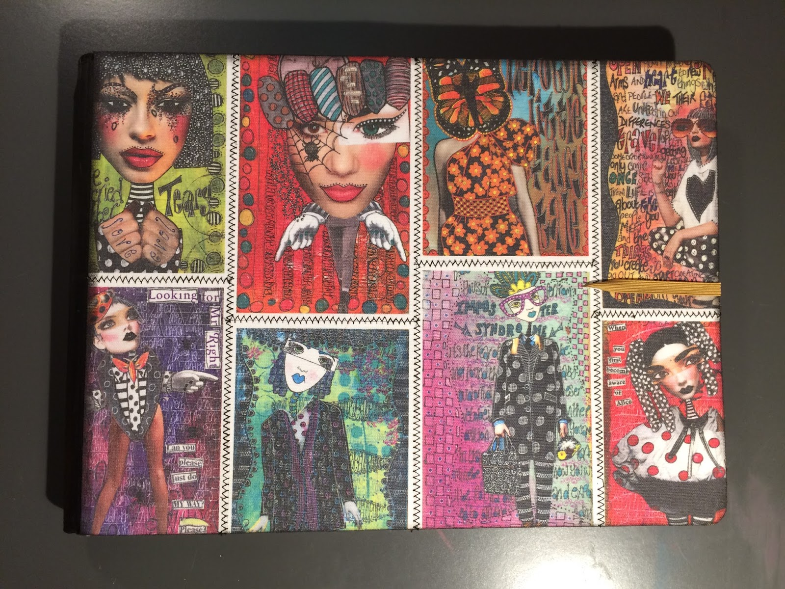 Dylan S Blog Dylusions Flip Journal Canvas Cover Step