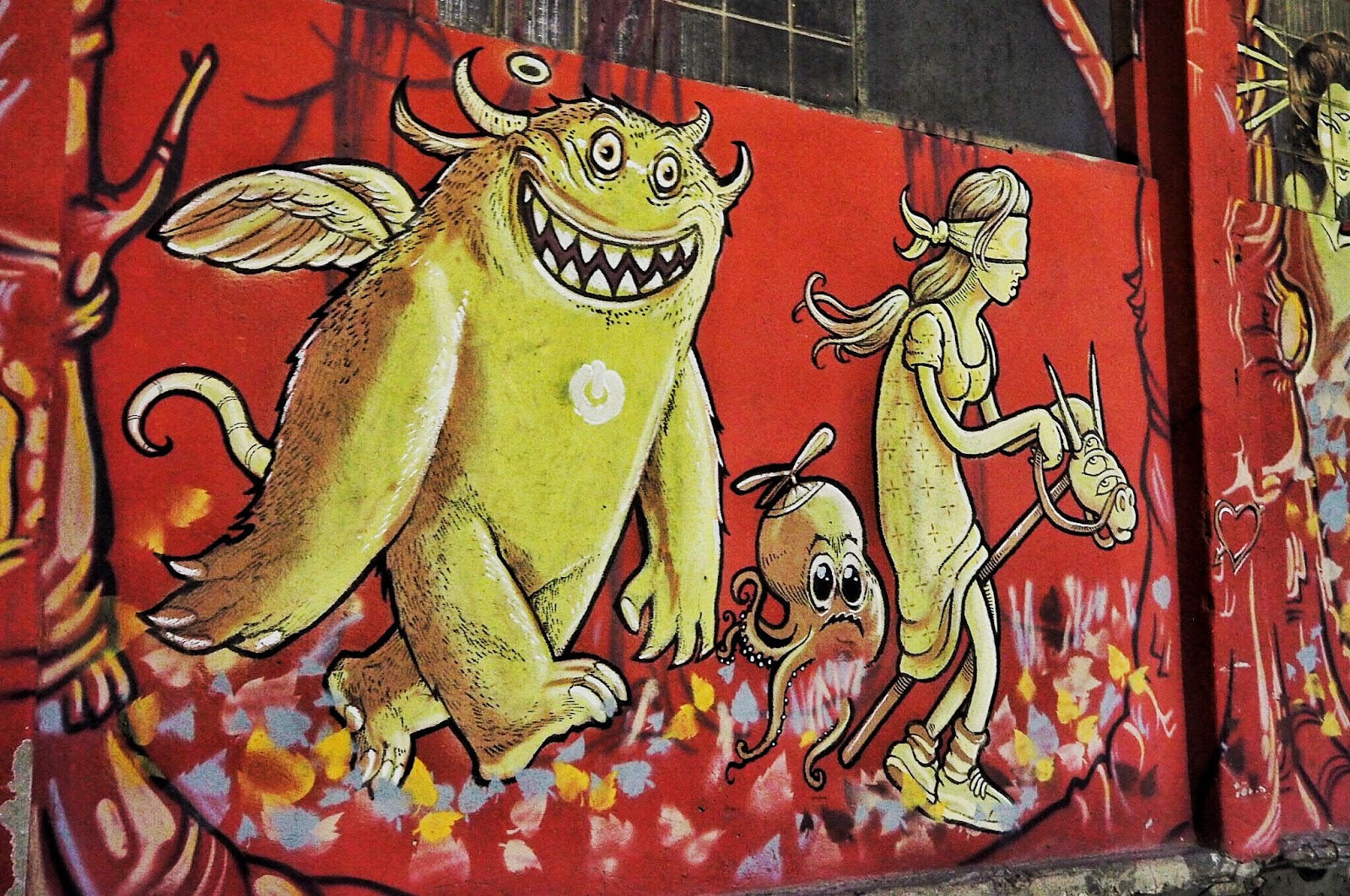 Monster street graffiti art at LX Factory Lisbon