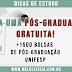 Mais de 1500 bolsas de estudos para pós-graduação UNIFESP - UAB Edital 202 Fev/2019