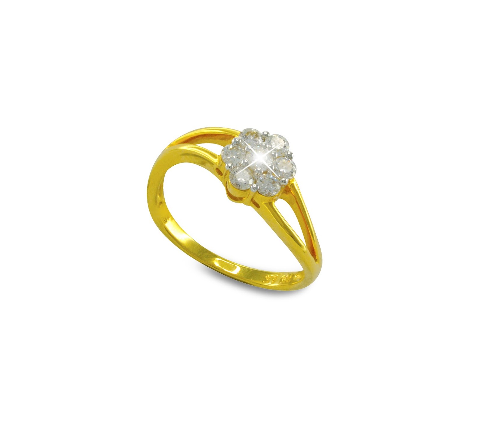Wah Chan Gold Jewellery April 2016 Chic Classic Wedding Ring Cincin Kawin Tunangan Pernikahan 2 Berlian Emas Kuning 18k