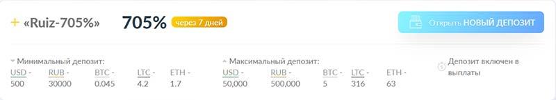 Инвестиционные планы RuizCoin 7