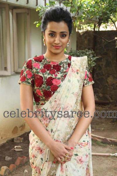 Trisha Embroidered Blouse Saree Blouse Patterns