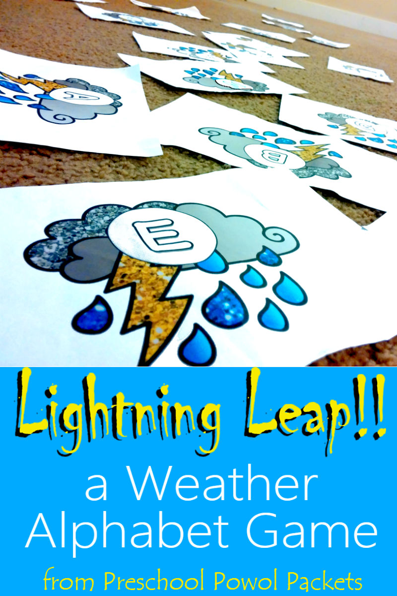 Lightning Leap Weather Alphabet Activity (with free printable ...
