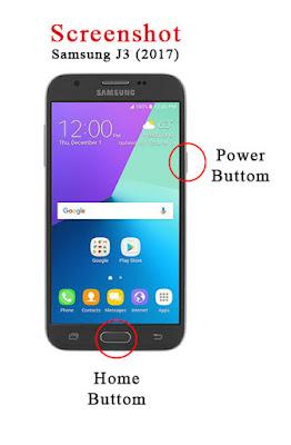 Cara Screenshot Layar Samsung J3 (2017)