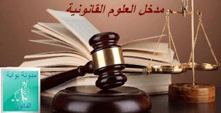 ملخص مدخل لدراسة القانون PDF