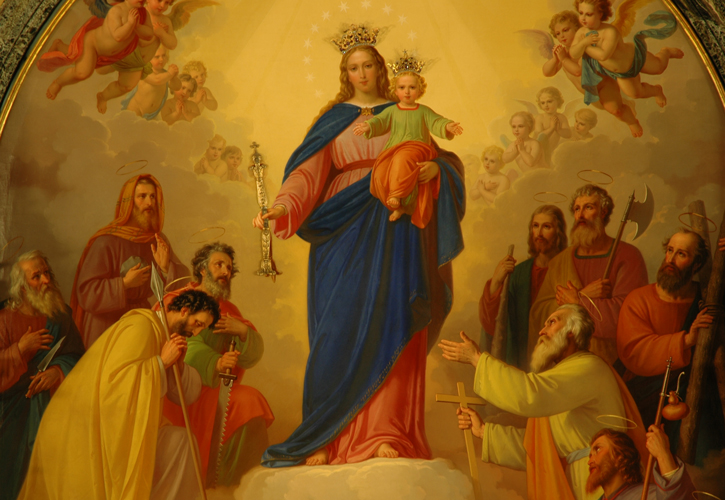 Cuadro Original De Maria Auxiliadora