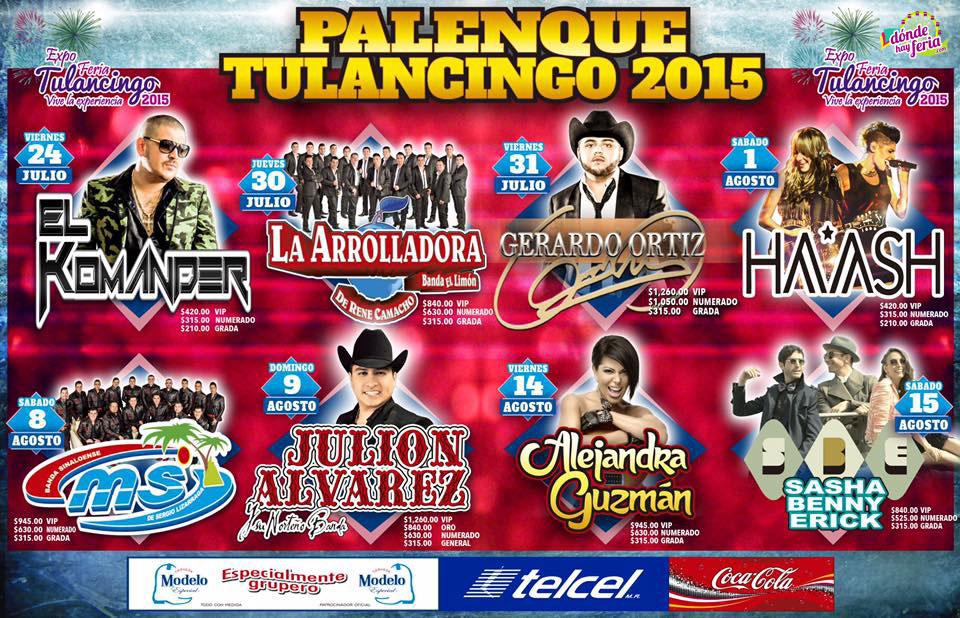 Palenque Tulancingo 2015 Cartelera
