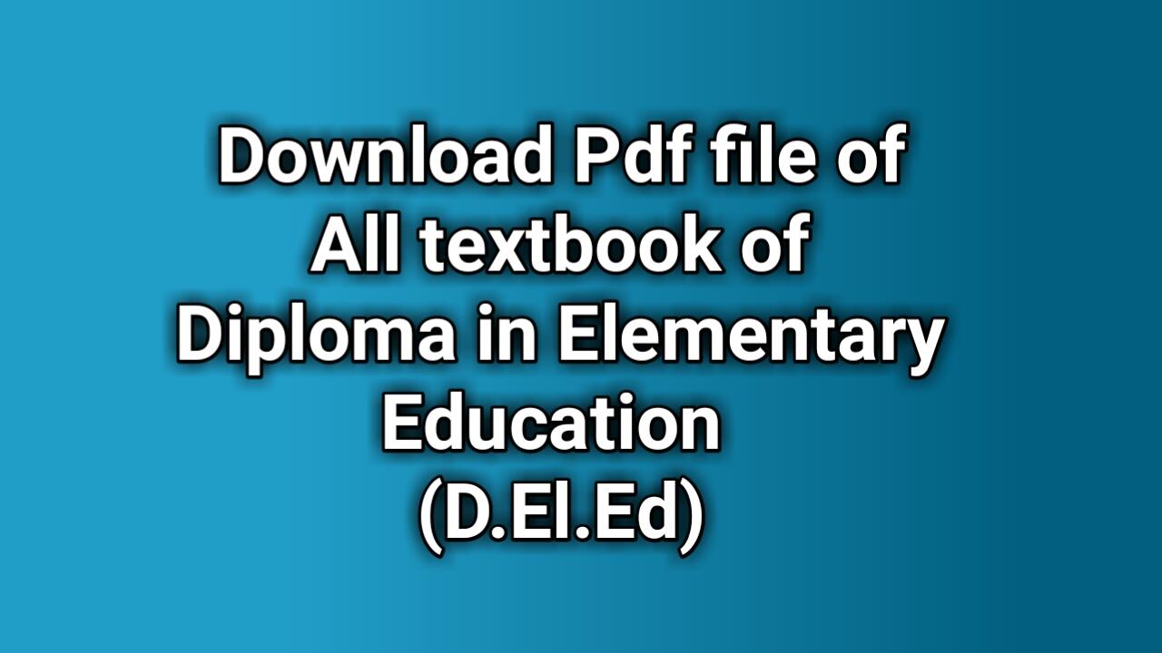 D El Ed odia books pdf free download