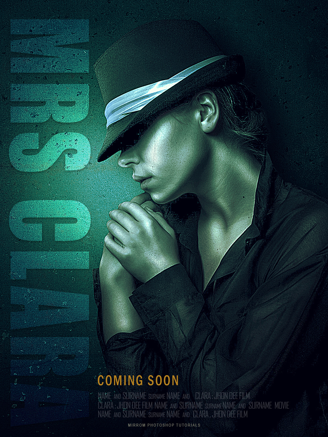 Create a Cyan Texture and Sharp Details For Movie Poster in Photoshop