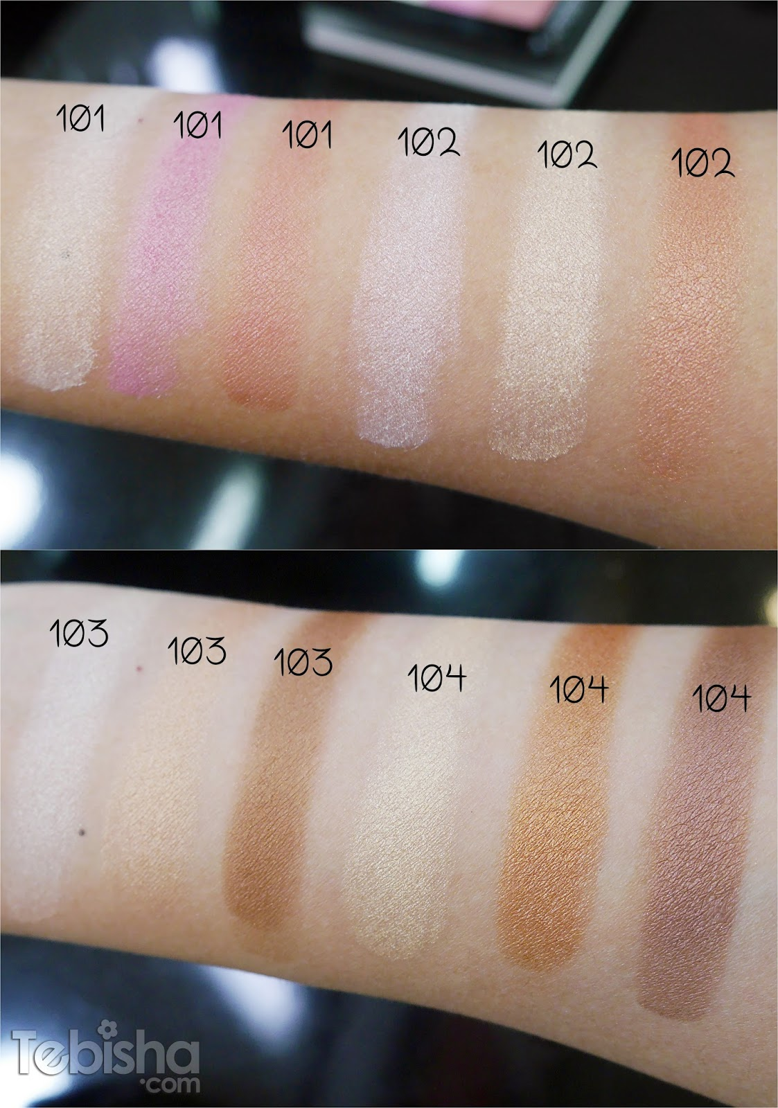 inglot october 2015 new releases  highlighter trio  matte
