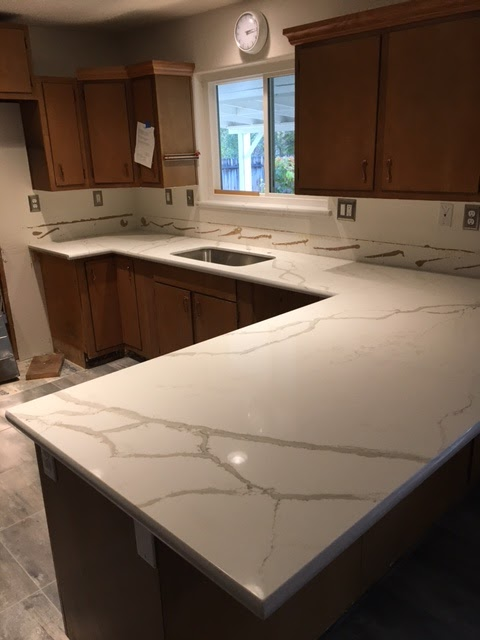 Quartz counter tops - kitchen remodel