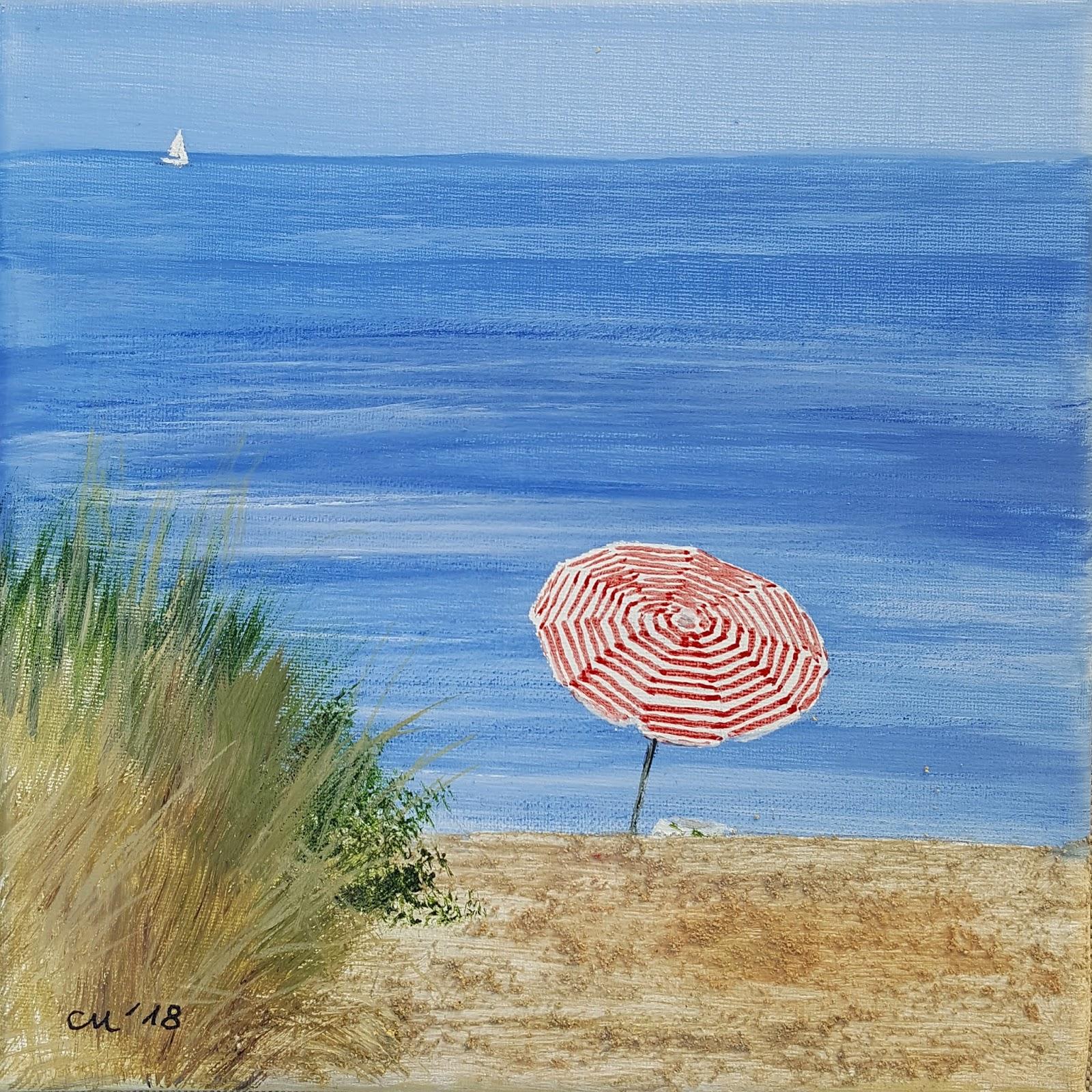 Daily Painting Carola Mehring 192018 Strand Am Schwarzen Busch