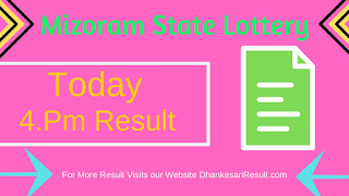 Mizoram State Lottery 18/05/2019 4:00  Pm Result