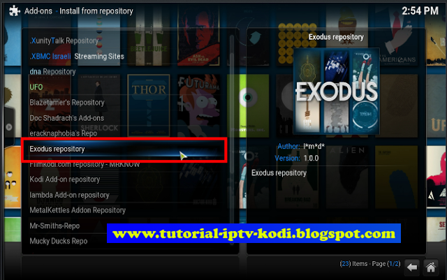 how to add exodus to kodi 18