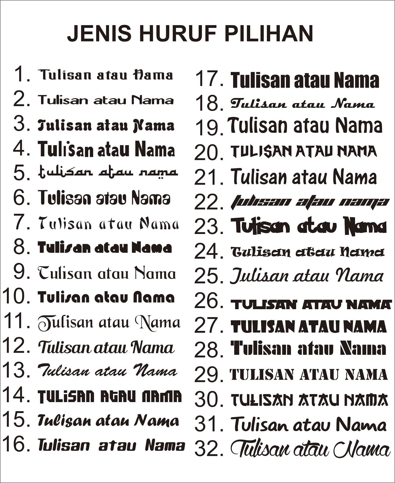 Stiker Mobil Nama/Tulisan Custom - Ijopink