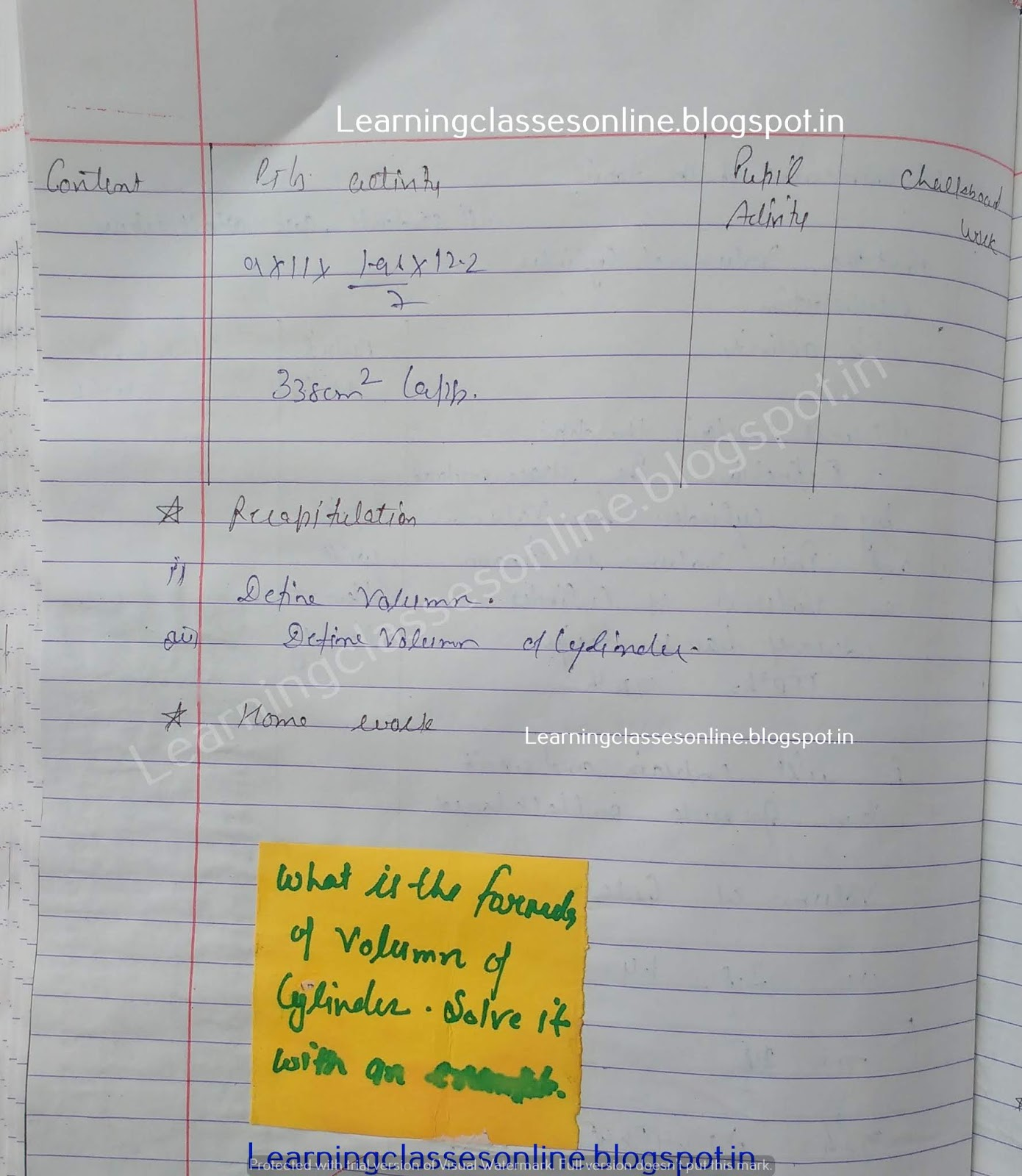 Lesson Plan In Math Grade 5,