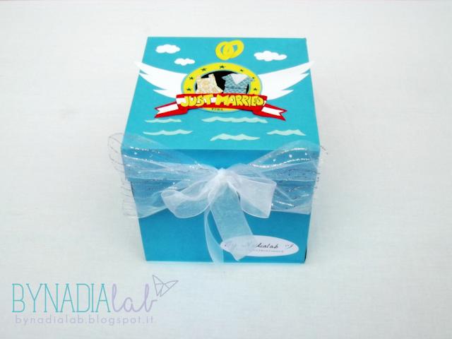 paper surprise box per il matrimonionerd