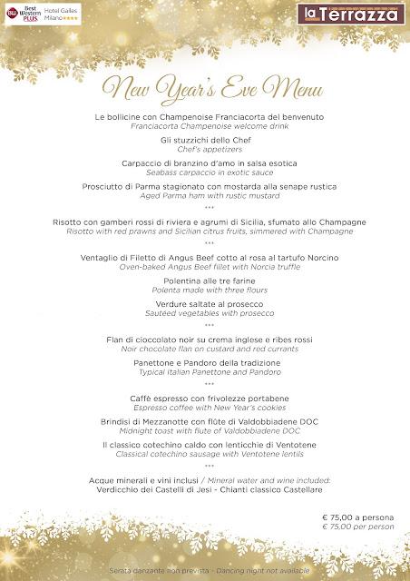 Scegli il nostro Menù per il Cenone di Capodanno al Ristorante La Terrazza Milano