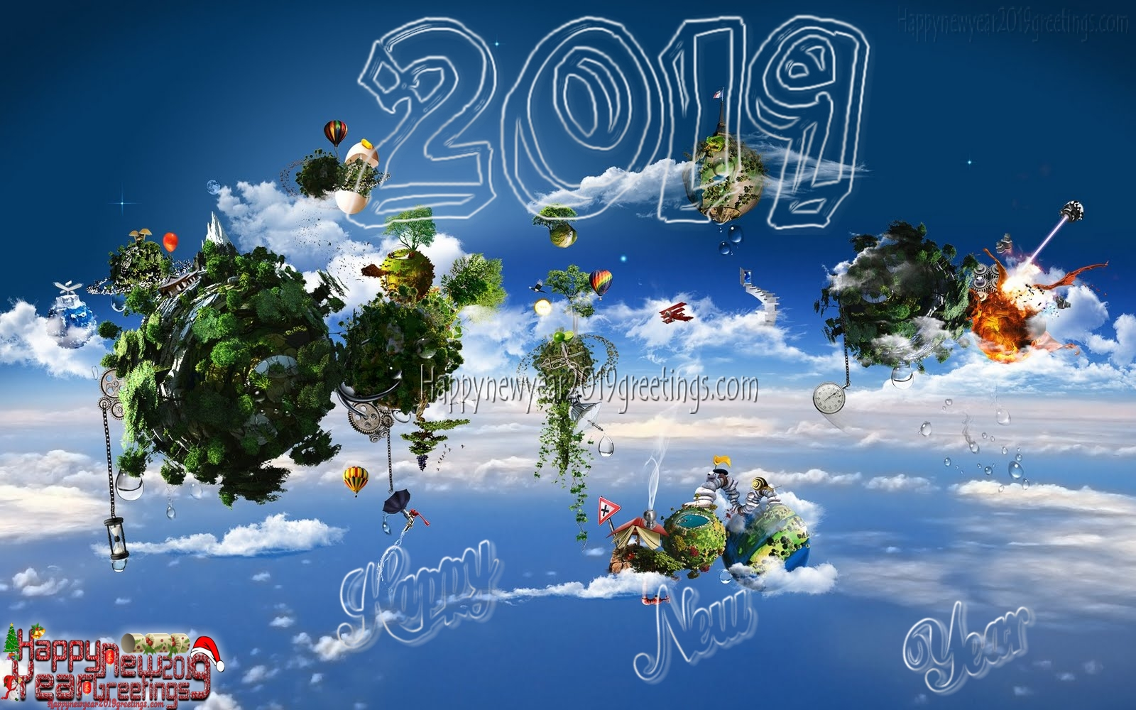 New Year 2019 3D Pictures Background Download For Desktop - Happy ...