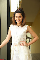 Taapsee Pannu in cream Sleeveless Kurti and Leggings at interview about Anando hma ~  Exclusive Celebrities Galleries 019.JPG