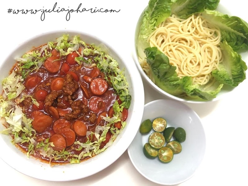Spagetthi Bolognese kegemaran keluarga pulak, tak cukup semangkuk!
