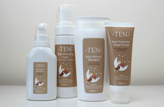 A picture of -TEN- Boutique Baby Skincare Products