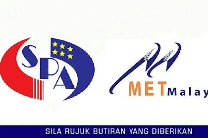 Jawatan Kosong Jabatan Meteorologi Malaysia - 160 Kekosongan Kelayakan STPM Setaraf | Tarikh Tutup: 23 Mei 2019
