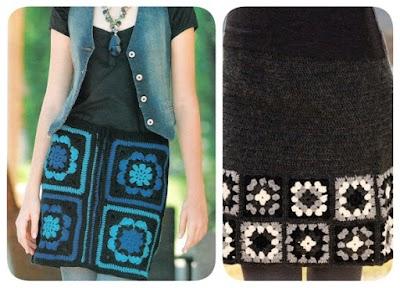 2 Faldas con grannys proyectos crochet